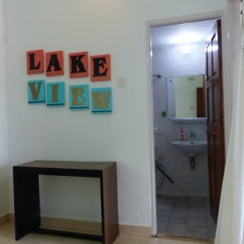 Lake view- bathroom