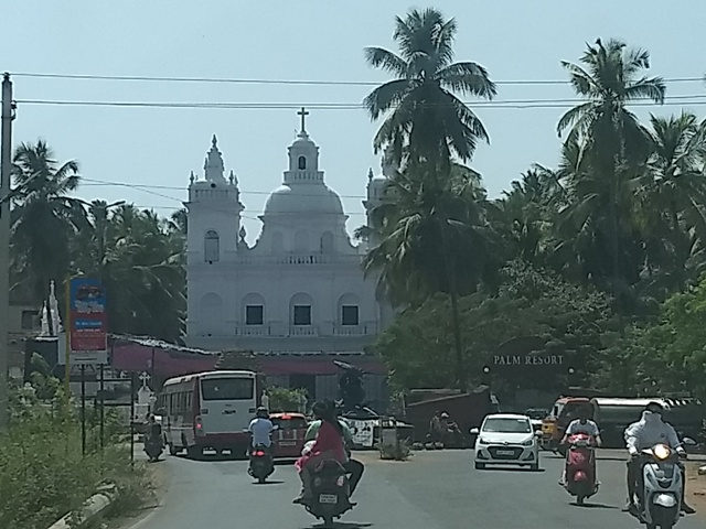 As you approach Calangute- St Alex Church